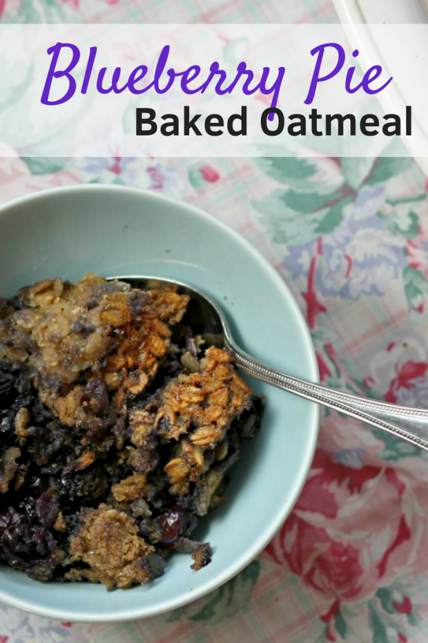 Blueberry Pie Baked Oatmeal