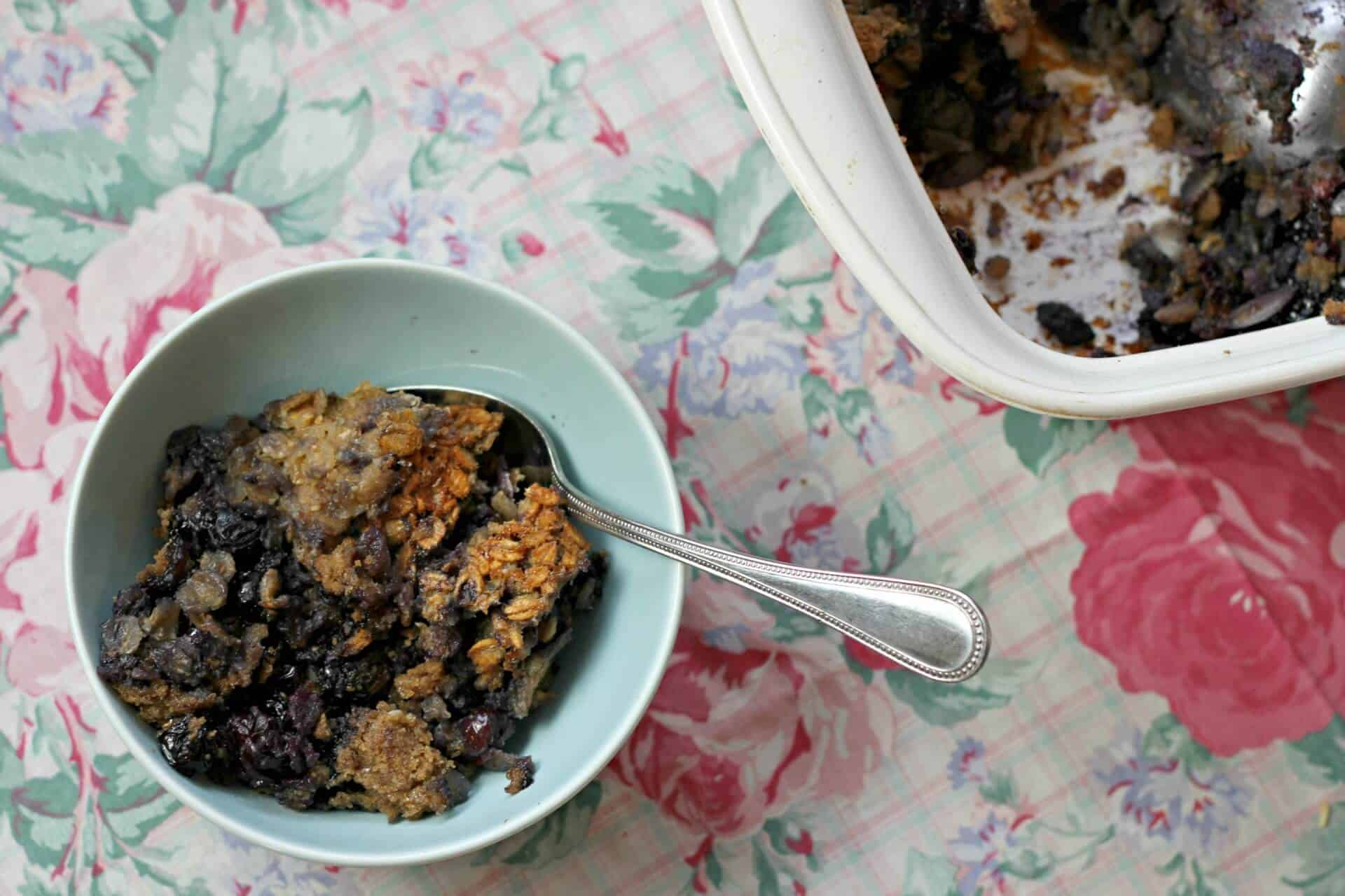 Blueberry pie baked oatmeal 2 S