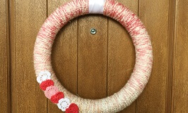 Easy Valentine's Day Yarn Wrapped Wreath