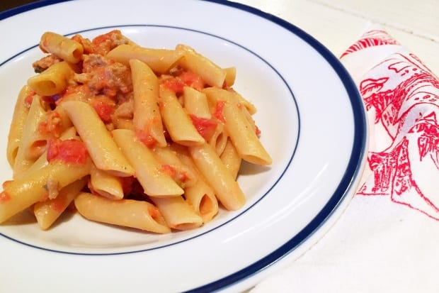 Italian Sausage and Boursin Pasta