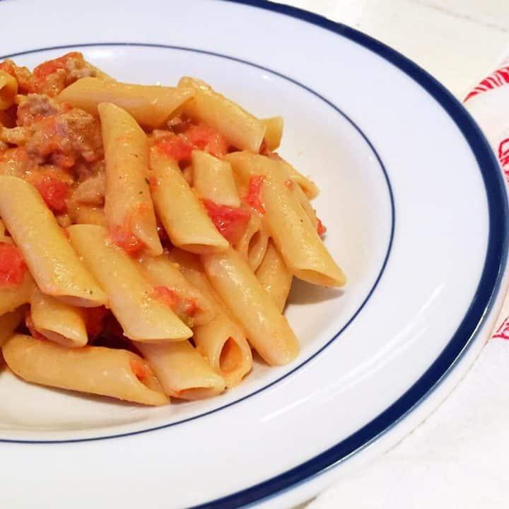 Italian Sausage and Boursin Pasta