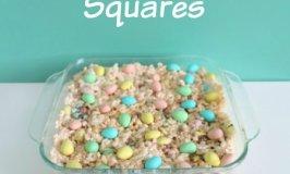 Mini Egg Rice Krispie Squares