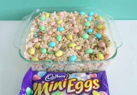 Mini Egg Rice Krispie Squares for Easter 2