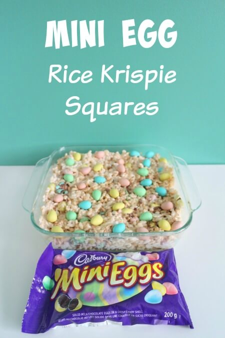Mini Egg Rice Krispie Squares for Easter