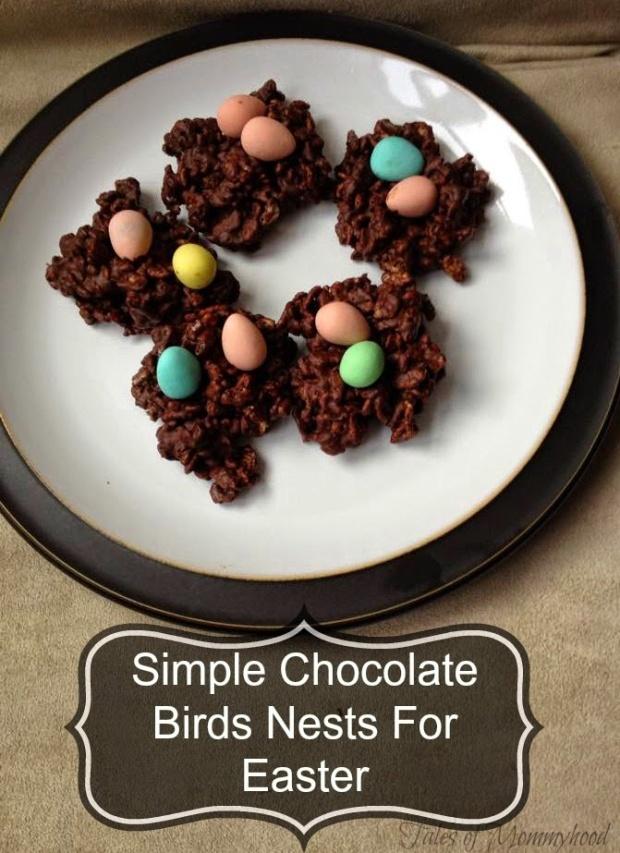 Simple Chocolate Birds Nests