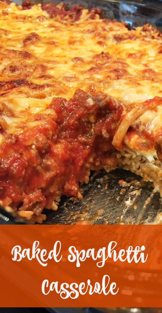 Family Friendly Baked Spaghetti Casserole Recipe