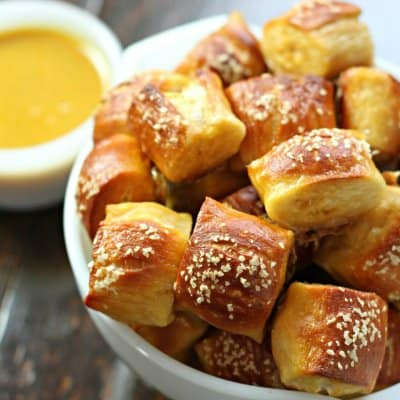 The perfect chewy pretzel bites recipe
