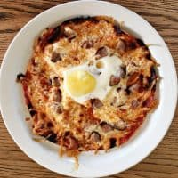 Easy Sausage and Egg Breakfast Tortilla Pizza