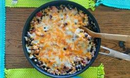Easy Chicken Burrito Skillet Recipe