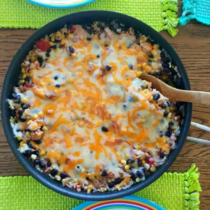Easy Chicken Burrito Skillet