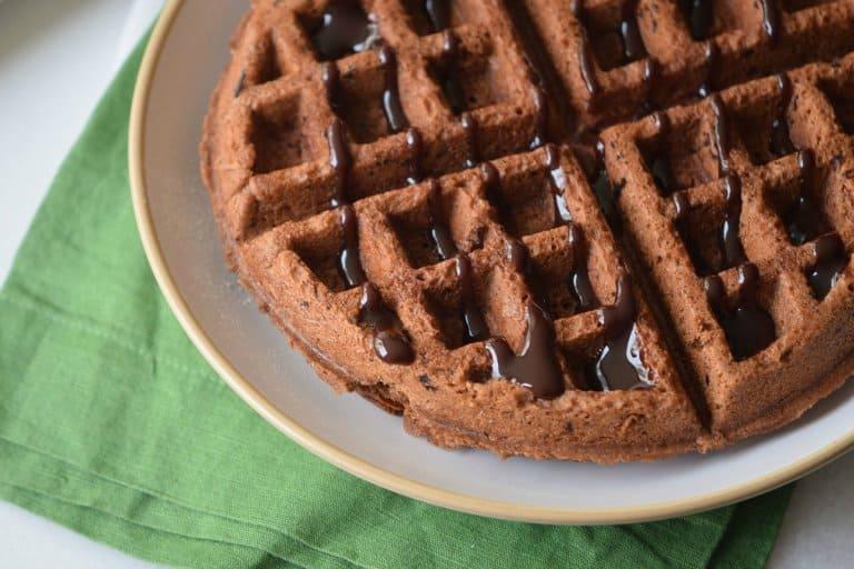 Fudgy Chocolate Waffles