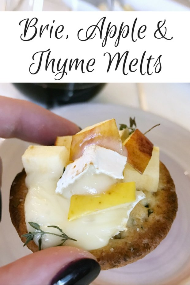 Brie Apple and Thyme Melts - An Easy and Delicious Appetizer