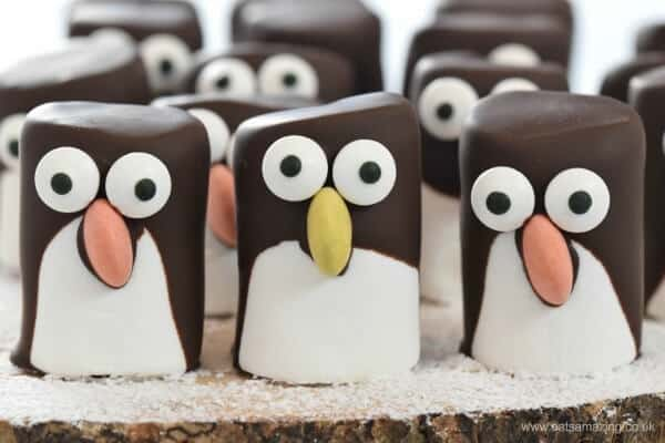 Easy-marshmallow-penguins-fun-penguin-themed-food-idea-for-kids-from-Eats-Amazing-UK