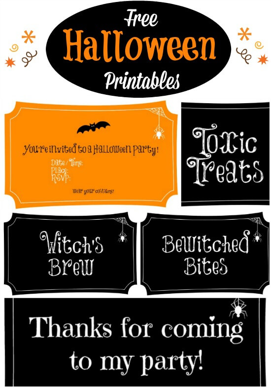 photograph about Free Printable Halloween Birthday Party Invitations named No cost Halloween Printables - Ideal for a Social gathering! - Merry