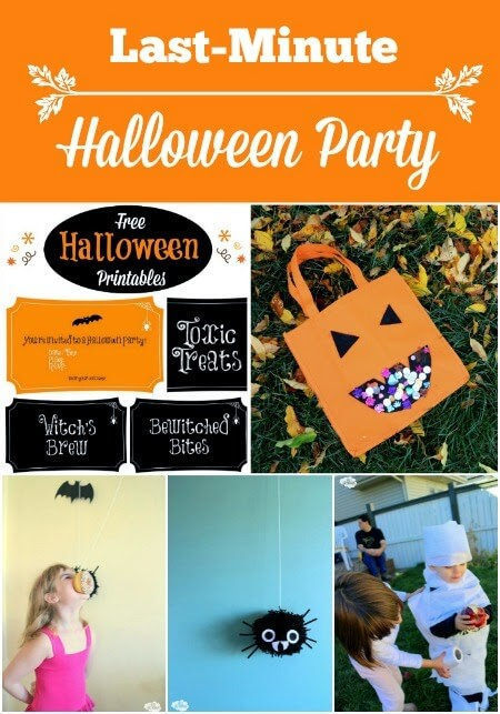 Last-Minute Halloween Party