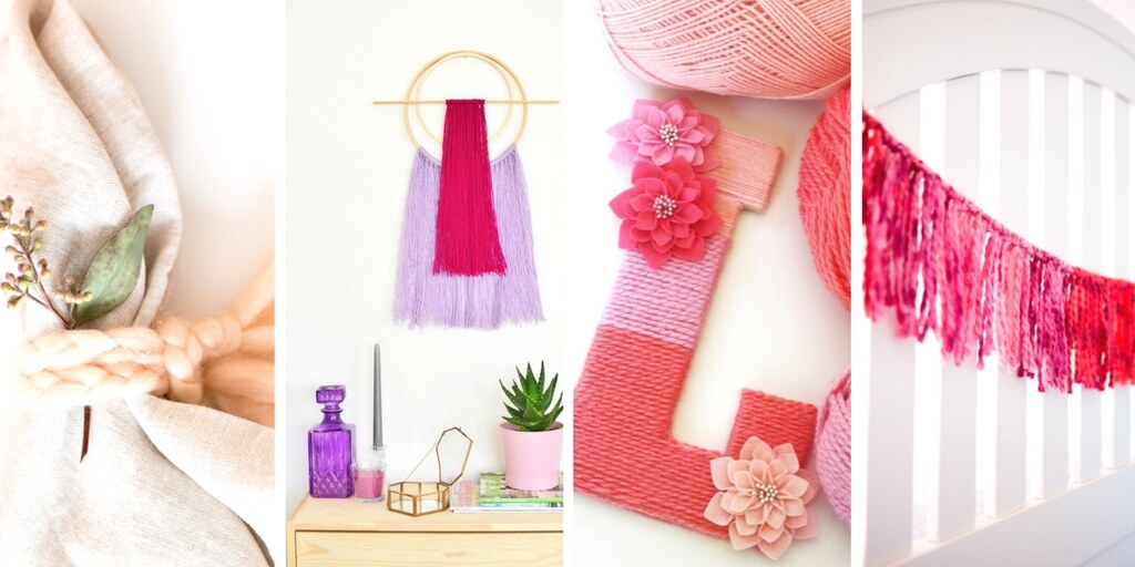 No Knit Yarn Crafts For Home Decor