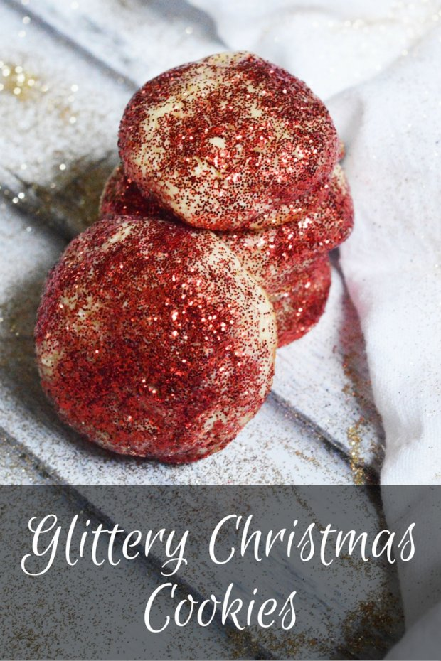 glittery-christmas cookies