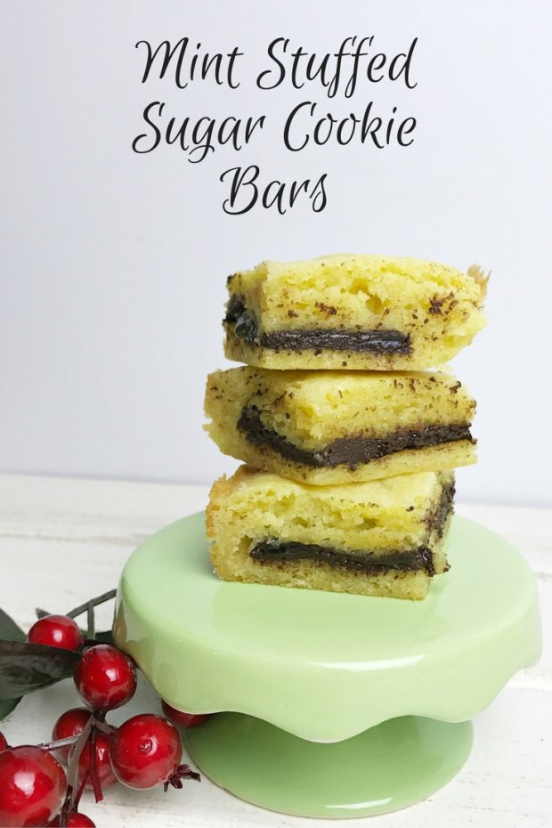 mint-stuffed sugar-cookie bars
