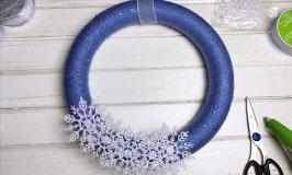 Easy Snowflake Yarn Wreath Tutorial