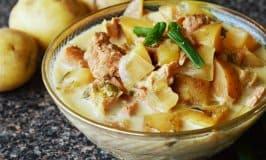 CrockPot Chicken Garlic Potato Soup