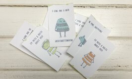 Free Printable Valentine's Day Cards – Robots