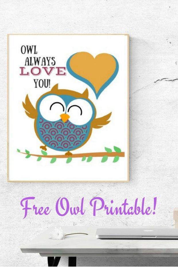 Free Owl Printable!