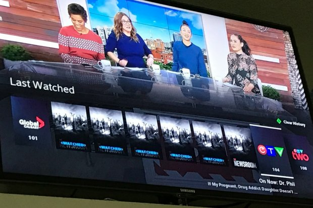 Last Button on BlueSky TV by Shaw