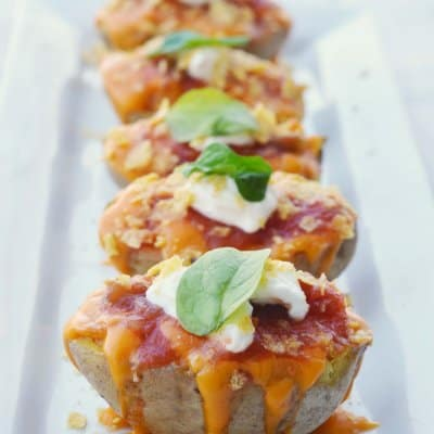 Nacho Stuffed Potatoes