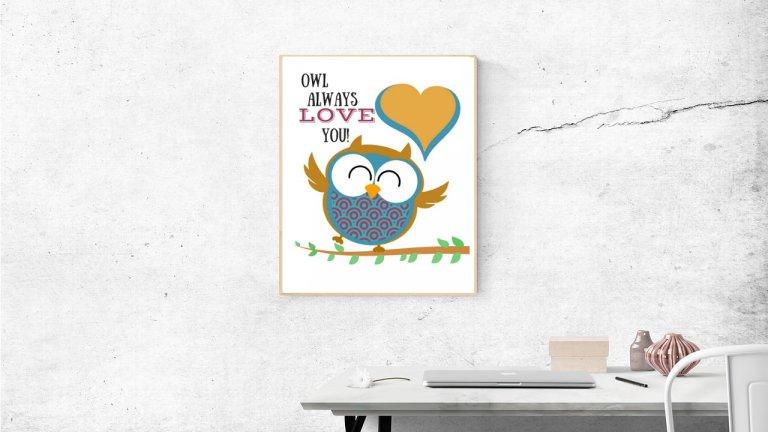 Owl Printables: Owl Always Love You to Frame