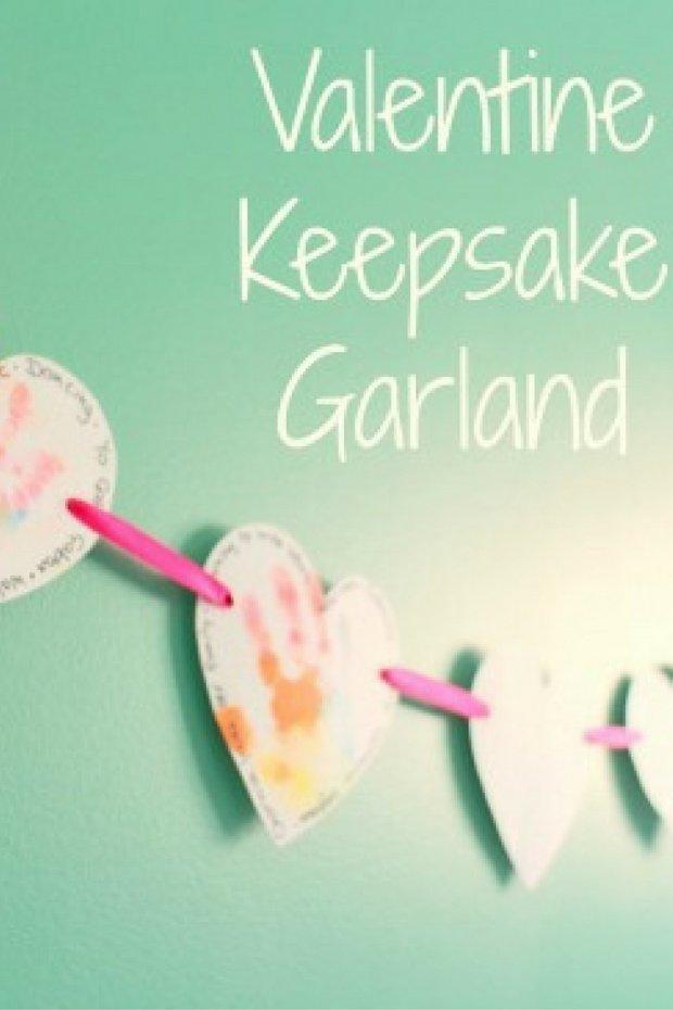 Easy DIY Keepsake Valentine Garland