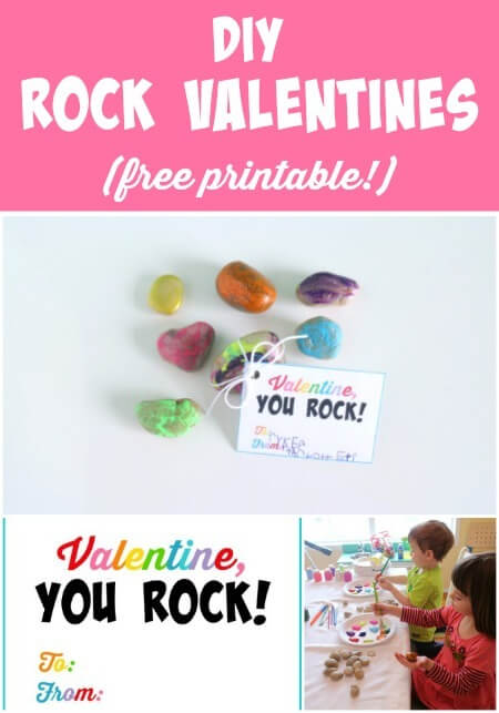photo about You Rock Valentine Printable named On your own Rock\
