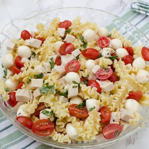 Caprese Chicken Pasta Salad