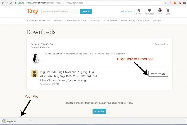 Download Your Etsy File