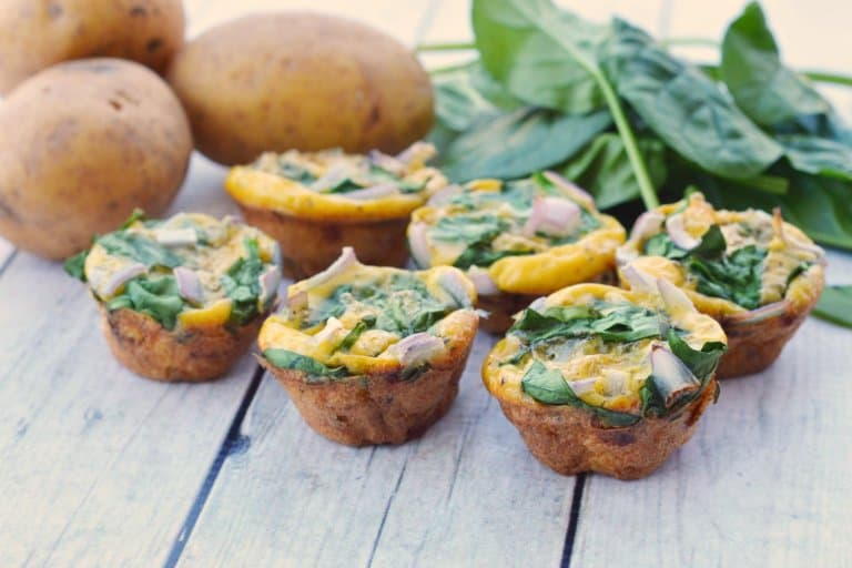 Potato, Spinach and Onion Egg Muffins