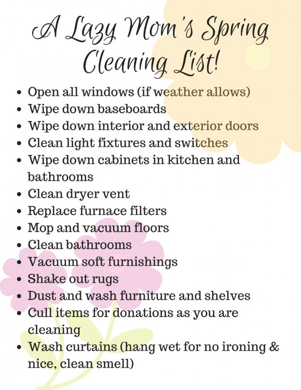 A Lazy Mom'S Spring Cleaning Guide Printable With Pine-Sol Spring