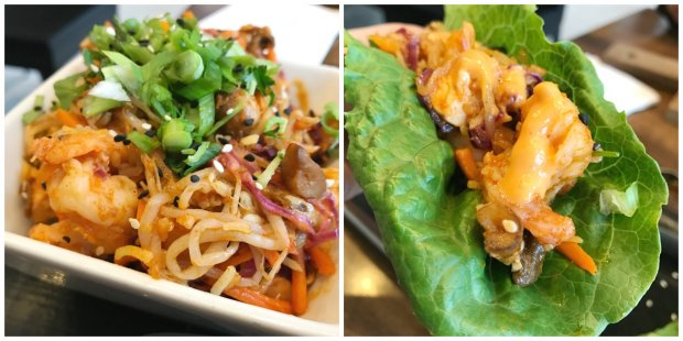 Korean Shrimp Lettuce Wraps