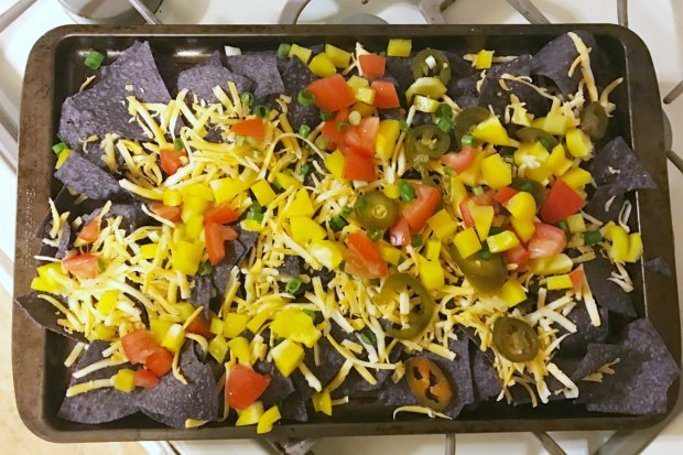 Lactose Free Nachos ready for the oven