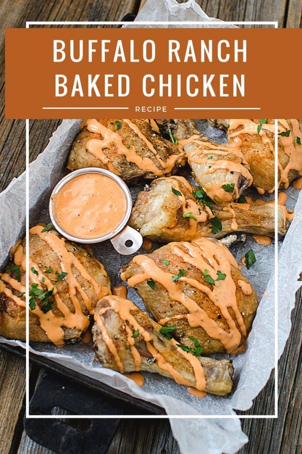 BAked Buffalo Ranch Chicken