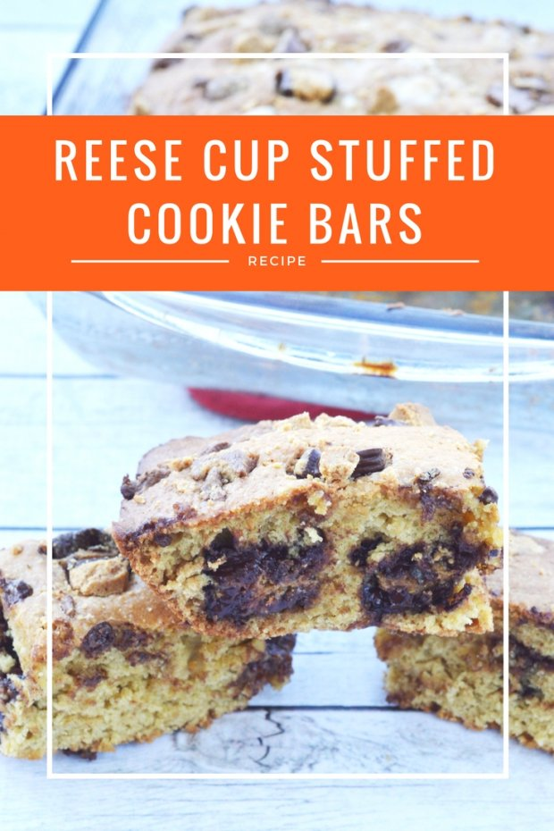 reese cup stuffed cookie bars