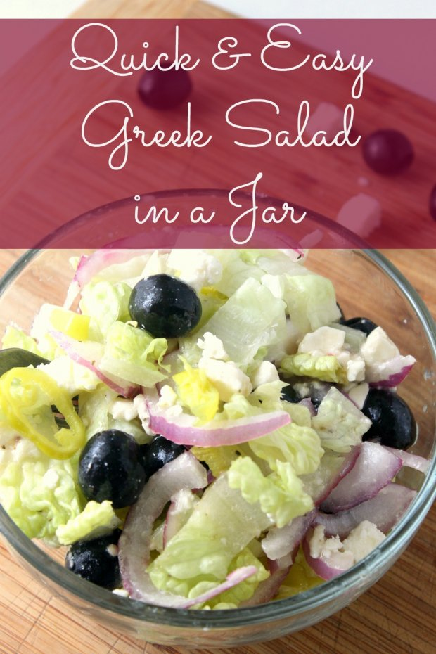 Quick and Easy Greek Salad in a Jar
