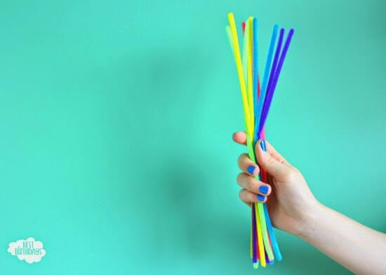 Pipe cleaners for this inexpensive DIY party decoration tutorial