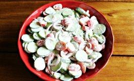 Cucumber Tomato Slaw Recipe