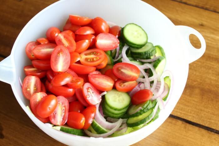 Cucumber Tomato Slaw