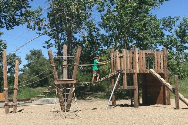Visiting the playground