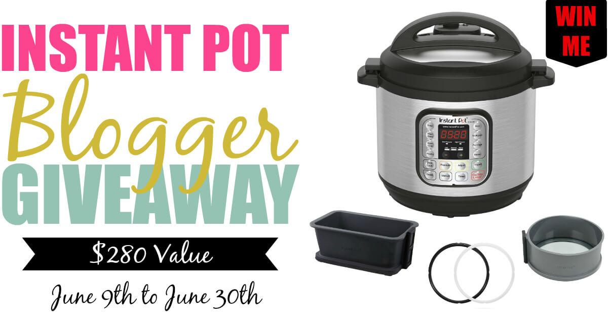 Instant Pot Blogger Giveaway Facebook