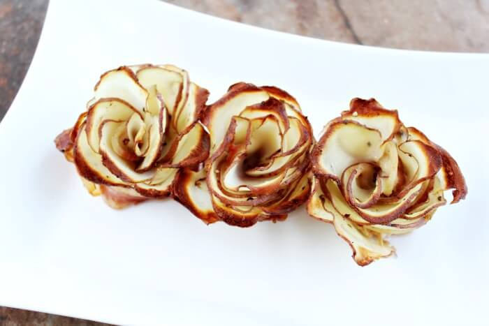 Easy Potato Roses