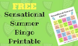 Sensational Summer Printable Bingo Card