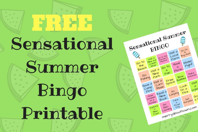 Printable bingo card