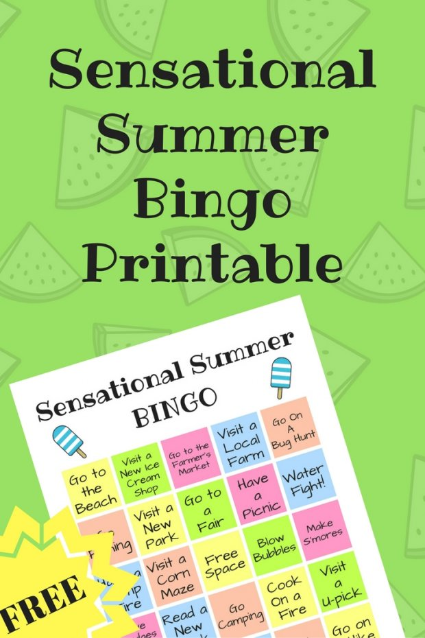 Summer Bingo Printable