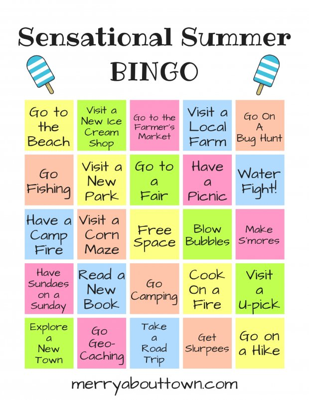 Summer Printable Bingo Card